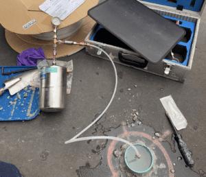 groundwater upss petrol station well sampling