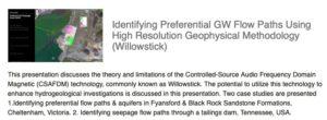 Identifying_Preferential_GW_Flow_Paths_Using_High_Resolution_Geophysical_Methodology__Willowstick____ALGA
